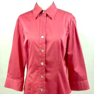 Van Heusen Stretch Button-Down Shirt Size Small